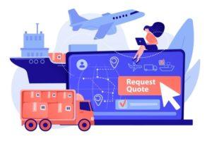 client-choisissant-type-livraison-commande-distribution-mondiale-demande-devis-fret-meilleure-proposition-expedition-concept-formulaire-demande-frais-transport