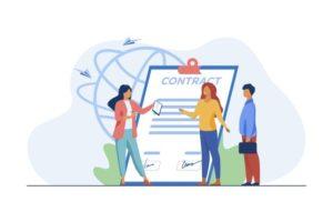 reunion-partenaires-commerciaux-reunion-gens-affaires-pour-signer-illustration-vectorielle-plane-contrat-emploi-accord-partenariat