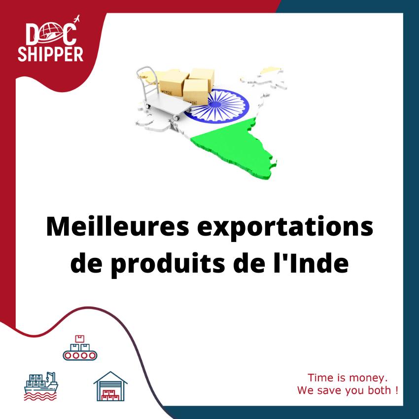 meilleures exportations de produits de l'inde