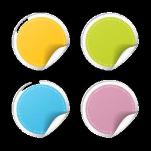 autocollants-ronds-vecteur-bord-recourbe-isole-fond-blanc