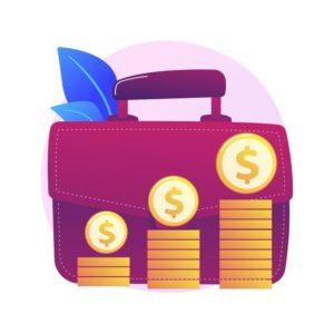 avantage-financier-personnage-dessin-anime-homme-affaires-grande-mallette-gagner-argent-obtenir-revenus-benefice-revenu-gains-processus-gain-capital