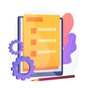 formulaire-document-ligne-contrat-numerique-contrat-electronique-questionnaire-internet-pour-faire-liste-notez-bulletin-vote-element-design-plat-vote