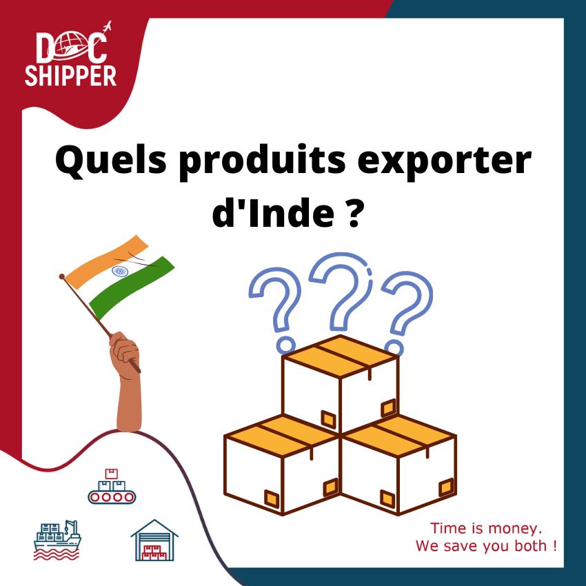quels produits exporter d'inde